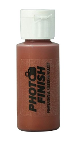 Photo Finish Professional Airbrush Makeup- Foundation -1.0 Oz Cosmetic Face- Choose Color (Dark Brown Adjustor-Matte)