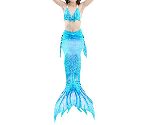 3Pcs/Set Mermaid Tail Swimsuit Swimwear Bathing Suit CCostume Bikini Set,Style 12,10T Tail Costume]()