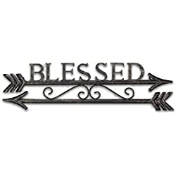 "Young's Blessed Two Arrows Metal Wall Art Sign, 19.25"" x 0.5"" x 5.5"""