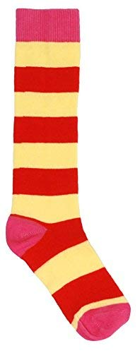 DUNS Organic Cotton Striped Knee Socks Yellow/Red (S-18/20-6-12M)