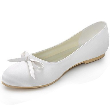 Red Pink Flat Summer Evening Purple RTRY Casual Blue Heel Women'S CN34 Ivory amp;Amp; Party US5 Yellow White Spring Bowknotblack EU35 Wedding UK3 Satin Fall Ballerina qqPU4a