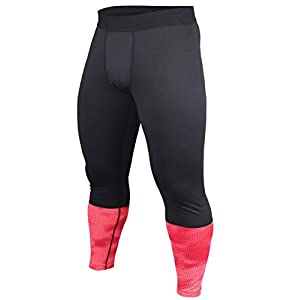 Hommes Gym La Musculation Compression Legging Collants Faire des Exercices Aptitude Un Pantalon Couche de Base Frais et…