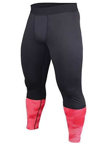 Hommes Gym La Musculation Compression Legging Collants Faire des Exercices Aptitude Un Pantalon Couche de Base Frais et…