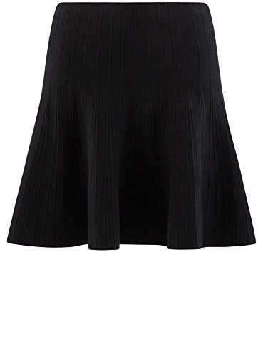 Femme Tricot en Ultra Textur Noir oodji 2900n vase Jupe qa6xTnvg