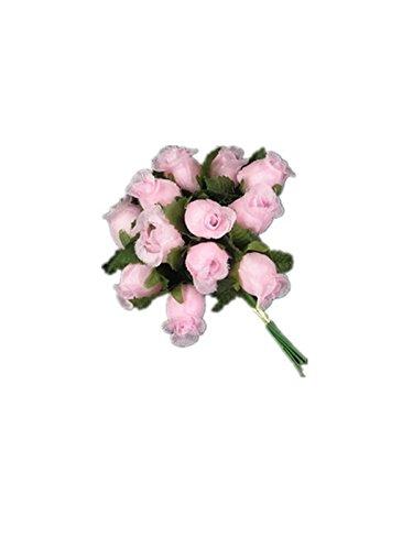 Miniature Silk Flower Rosebud Pink Lot Of 12 Bunches Amazon