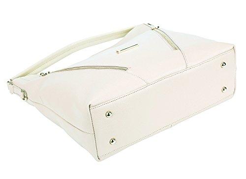 Purse Cream Top Vintage Bags Womens Leather Bag Shoulder SALE Tote handle Cross Ladies Body AINIMOER Handbags White BIG aq7x1Hv