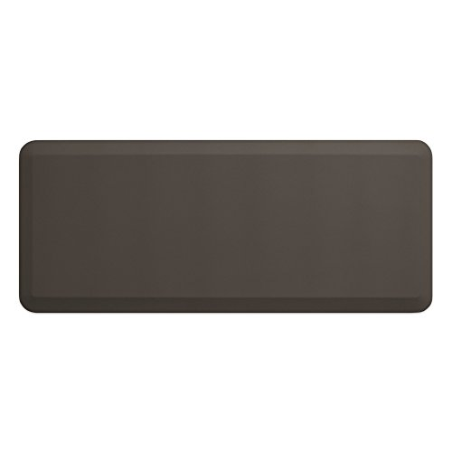 "Bio Based Foam - NewLife by GelPro Professional Grade Anti-Fatigue Kitchen & Office Comfort Mat, 20x48, Stone ¾"" Bio-Foam Mat with non-slip bottom for health & wellness"