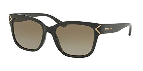 Tory Burch Women's 0ty9050 Blackgold Metail Detailsdark Brown Gradient Sunglasses