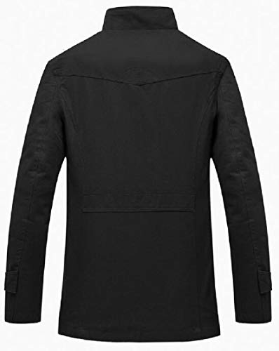 Ttyllmao Trincea Cappotto Lunga Manica Maschile Giacca Colletto Antivento Alla Nero Coreana rqrRF