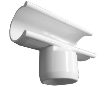 Python Saddle - Side Saddle Tee - 1 inch PVC Side Snap On Tee - Furniture Grade PVC Fitting