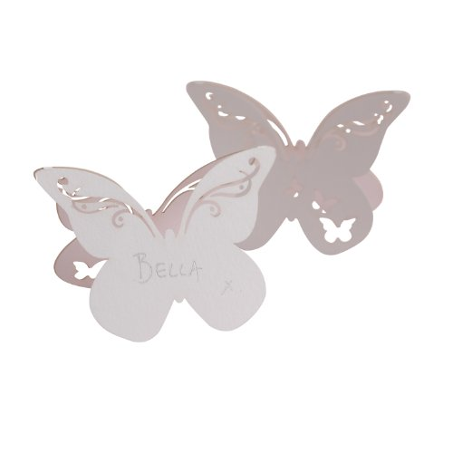 - Ginger Ray Butterfly Laser Cut Place Cards (10 Pack), White