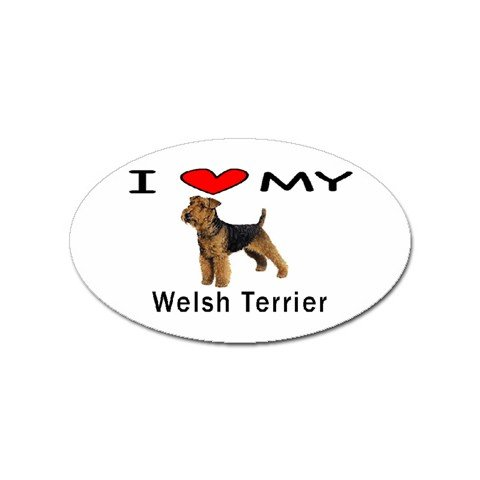 I Love My Welsh Terrier Oval Sticker