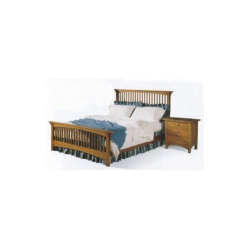 PAPER WOODWORKING PLANS to build Queen Size Mission Style Bed and Night Stand
