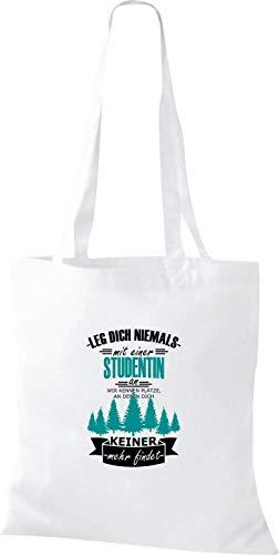 Leg Estudiante De Blanco Shirtinstyle Nicht Kennen Bolso Mit Dich Wir Tela Uno Un 78c8r
