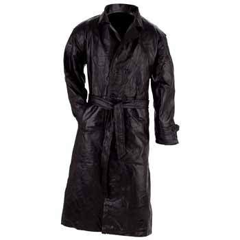 Giovanni Italian Leather Trench Coat - Small ()