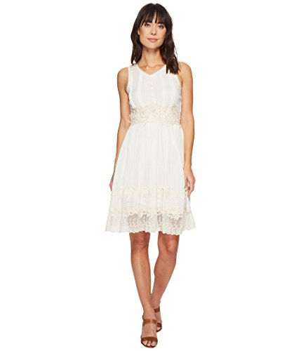 Scully Women's Elma Lace Dress Ivory Large