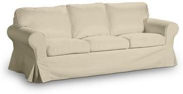 Funda para silla de IKEA EKTORP 3er sofá-cama, modelo nuevo en Berlín de terciopelo de colour crema de diseño Saustark: Amazon.es: Hogar