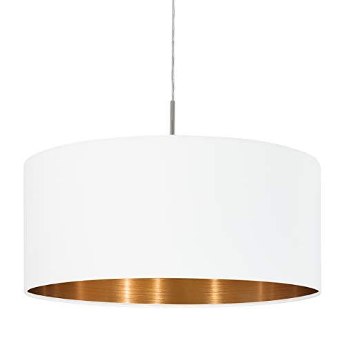 Eglo pasteri interior E27 cobre, níquel, color blanco