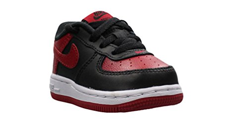 Air Force 1 Black/Gym Red-White (Little Kid) (6 M US Toddler)