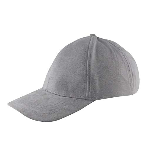 Hot New Baseball Cap Women Men Caps Suede Hats Street Hip Hop Caps for Boys Girls 8 Candy Colors Gray