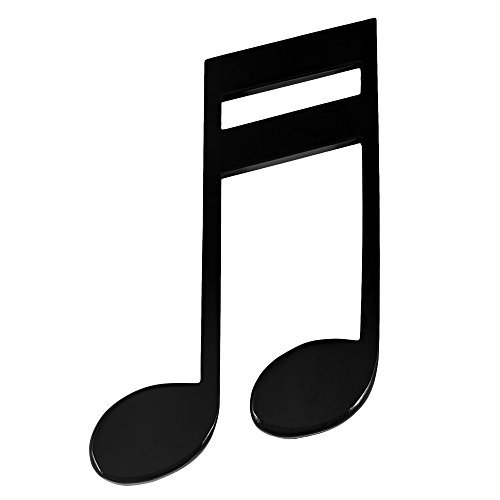 Black 16th Note Glossy Wooden Wall Decoration