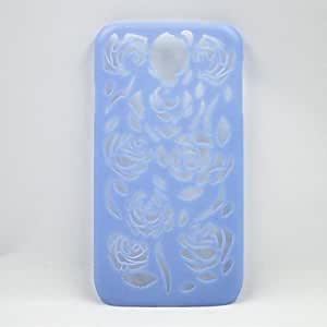 Mini - Hollow Out Pattern Of Roses Net Plastic Back Cover for Samsung Galaxy S4 I9500 ,Color: Pink