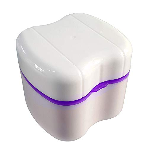 Gus Craft New 2017 Lavender Purple Denture Box with Simple Retrieval Tab, Great for Dental Care, Easy to Open, Store and Retrieve (Lavender Purple)