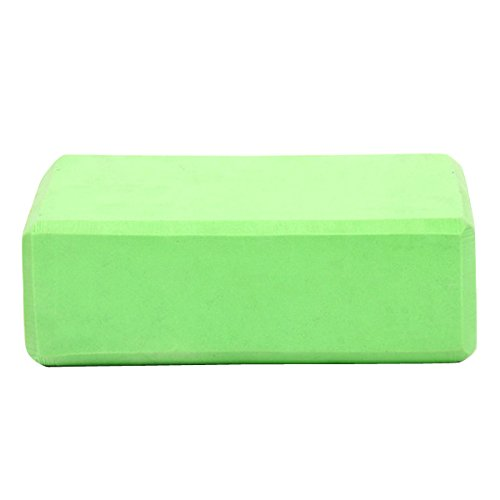 LBZE Yoga Block Yoga Dance High Density Environmental Protection Improve Strength And Aid Balance and Flexibility Lightweight Green