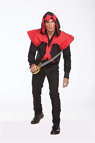Halloween Wholesalers Pirate Assassin Black and Red Costume (12 Pack) ()