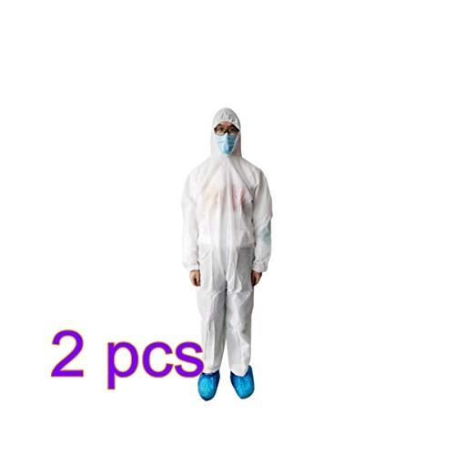 BESPORTBLE 2Pcs Medical Gown Isolation Gown Hospital Gown Disposable Medical Gowns Medical Robe Exam Gowns for Doctors Nurse Hospital Home use (Size L)