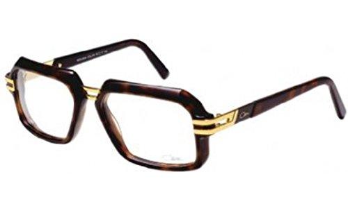 Cazal Eyeglasses 6004 003 Havana/Gold Rectangular Full Rim Optical Frame - Cazal Frames Vintage