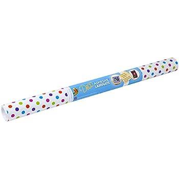 Duck Brand 282242 Deco Adhesive Laminate, 20-Inch x 10-Feet, Polka Dots