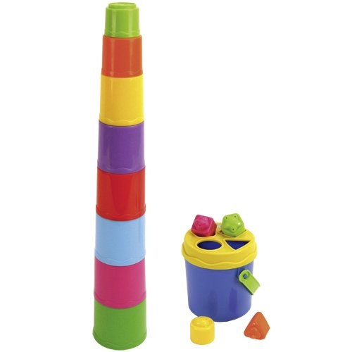 BKids Shape Sorting Stack 'n' Nest Buckets Toy by BKids   B00MBTXPGY