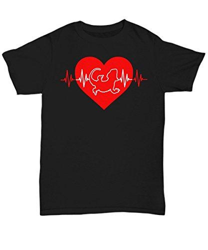 Bearded Dragon Heartbeat Tee Shirt - Lizard Lover T Shirt - 4X Large