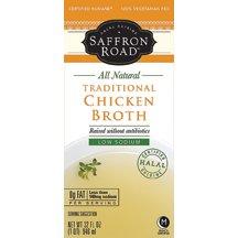 Saffron Road Traditional Chicken Broth, 32 Fluid Ounce - 12 per case. by Saffron Road
