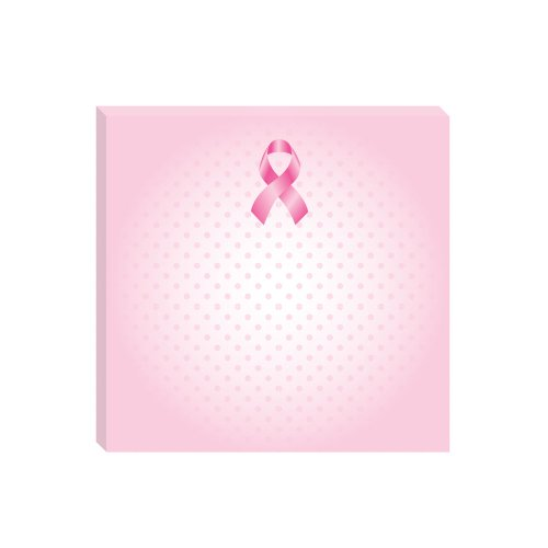 Post-it Super Sticky Notes, 3 x 3 Inches, Breast Cancer Awareness, Pink, Dot Pattern, 3 Pads per Pack (Breast Cancer Ribbon Sticky Notes)