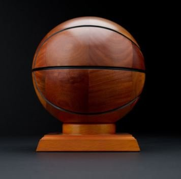 Wood Sports Balls (Basketball) - Wood Look Santa