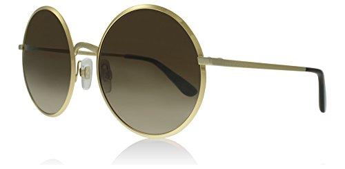 Dolce & Gabbana Women's Metal Woman Round Sunglasses, Gold, 56.1 mm