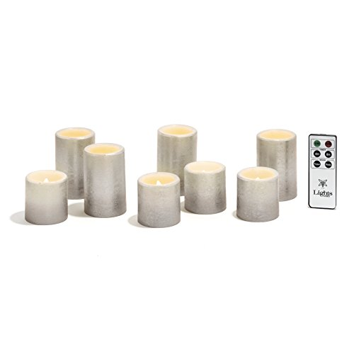 silver candles with timer - 8