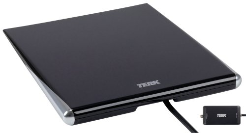 Terk Digital Tv (TERK Omni-Directional, Amplified Digital Flat Indoor HDTV Antenna)