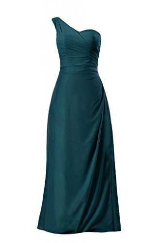 Chiffon Teal Dress Party 42 Long dark One DaisyFormals BM7872 Gown Bridesmaid Strap Chiffon SqEHCwfx