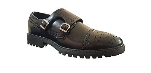 Negro Piel Hombre De Para Sintética Zapatillas Ormaletto Jens q6w0tt