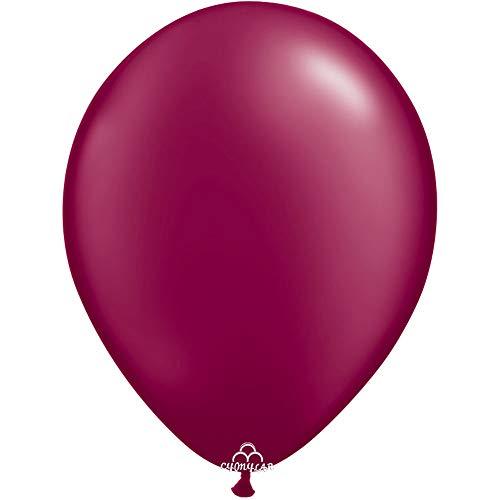 CY Mylar Latex Balloons Pearlized Peach Balloons Gray Balloons Burgundy Balloons Pearl Midnight Blue Balloons (12inch Burgundy Balloon)-24pack