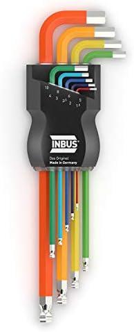 INBUS® 70266 Set de llaves Inbus/ juego en código de colores