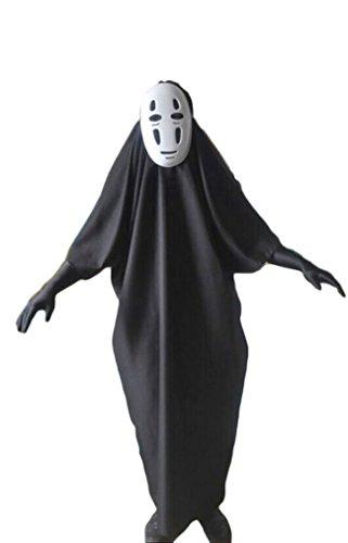 HalloweenCostumeParty Spirited Away No-Face Mask + ghost costume for (No Face Halloween Costume)