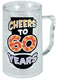 Laid Back C575 Cheers to 60 Years Acrylic Tankard, 14-Ounce