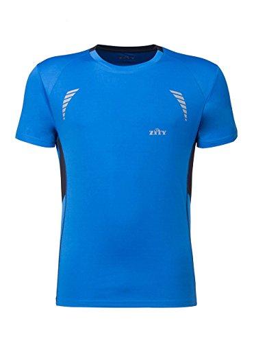 ZITY T Shirt for Men,Men's Tech Short Sleeve T-Shirt Athlete Running T Shirt Blue (Af Long Shirt)
