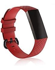 PRAVETTE kompatibel Fitbit Charge 3/Charge 3 SE Armband, Silikon Ersatzarmband Sport Schrittzähler Armband für Fitbit Charge3 Damen Herren