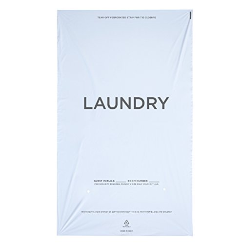 (WELCOME Laundry Bags Hospitality - 14 X 24 Hotel Laundry Bags - Tear Tape Tie Closure White Plastic (Case of 1000))