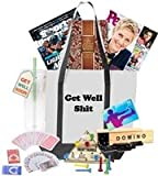 Just Don't Send Flowers Get Well Gift Basket with Games for Rehab or Recovery